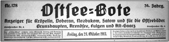 Faksimile Ostsee-Bote 1913
