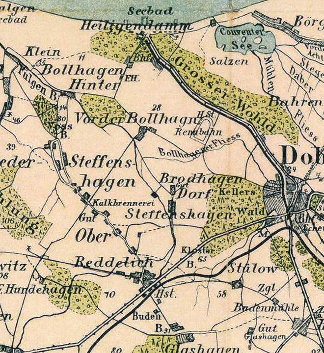 Wanderkartenausriss um 1905