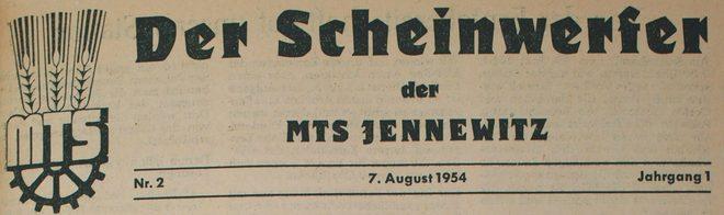 Der Scheinwerfer Jennewitz 1954